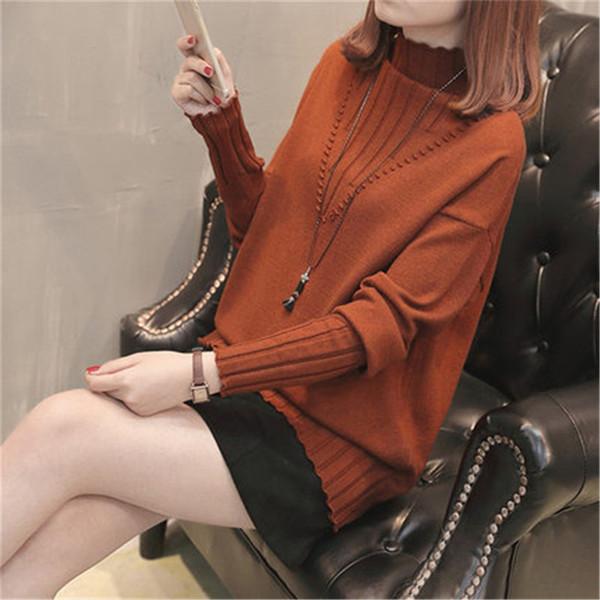 2018 hiver des femmes pull mode coréenne automne femmes pull plus la taille des femmes pull femme tops à manches longues ZZ647