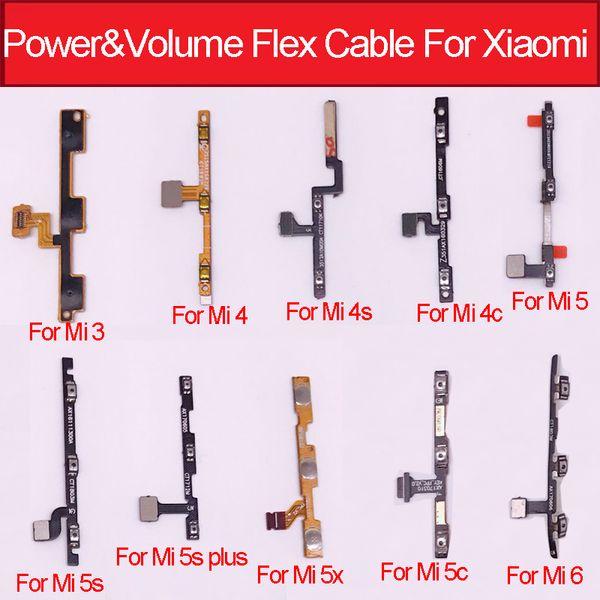Botón flexible de volumen de alimentación Cable flexible para Xiaomi Mi6 Mi5s 5x 5c M5s Plus Mi 3 4 5 4s 4c Control de volumen de alimentación Flex Ribbon Repair Parts
