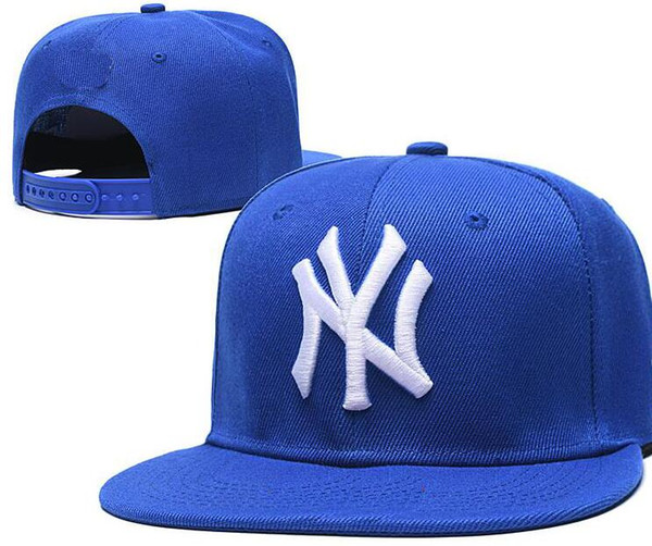 Pas cher Snapback Casquettes Femmes Hommes New York NY chapeau Logo os Équipe Casquette de baseball brodé Taille plat courbé Brim Chapeau Casquette 14