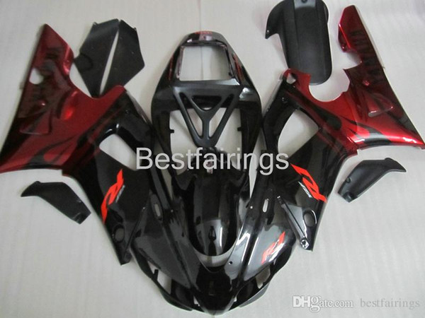 ZXMOTOR 7 gifts fairing kit for YAMAHA R1 1998 1999 red black fairings YZF R1 98 99 GF36