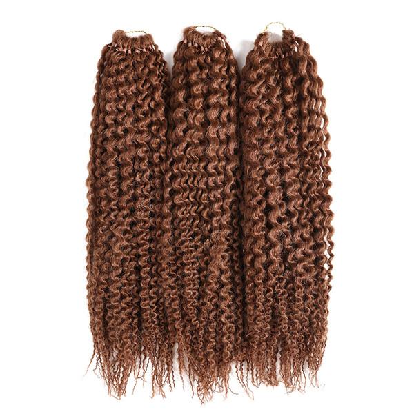 Kanekalon Crochet tranças do cabelo de 16 polegadas Kinky encaracolado sintético torção Cabelo Pré Circuito Ilha Deusa Cabelo Crochet Jumbo senegalês por Mulheres