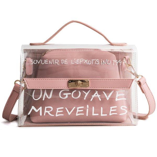 Women Transparent Handbag and Purse PVC Brand Designer Jelly Messenger Bag  Small Tote Bag Summer Waterproof Beach Crossbody Bag 6b31a645cee81