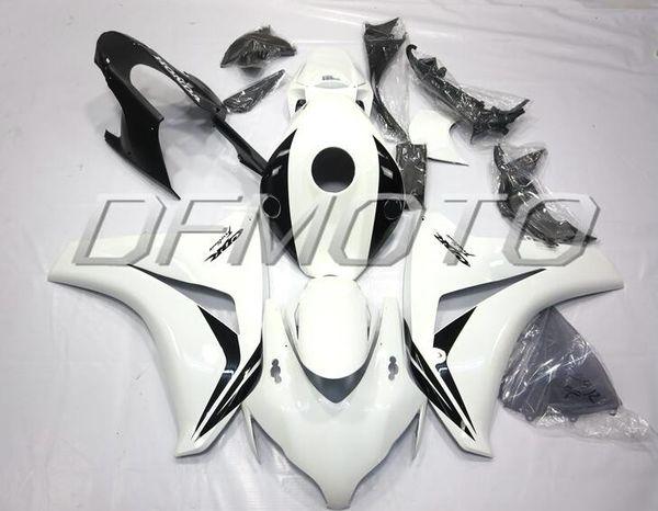 New Injestion Mold ABS motorcycle Full Fairings Kits+Tank cover Fit For HONDA CBR1000RR 08 09 10 11 2008 2009 2010 2011 body custom white