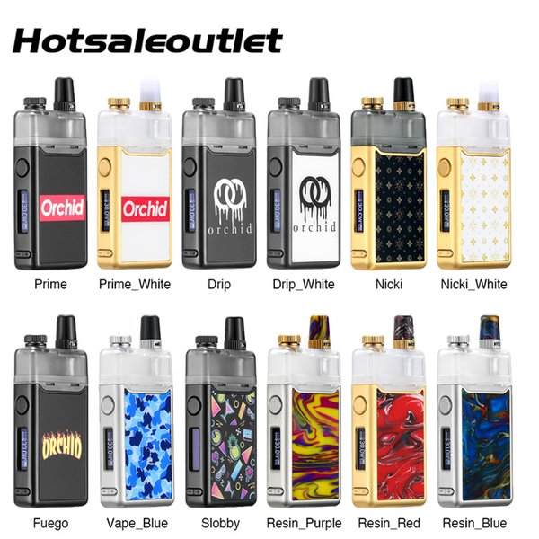 Original Orchid IQS Pod Kit 950mAh inbuilt Battery and 3ml Orchid IQS Pod Airflow Control For MTL and DL Vaping