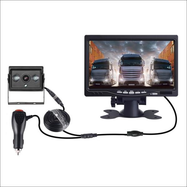 12V24V gros camion caméra de recul L'image inversée vision HD nuit infrarouge inversion voiture radar système caméra