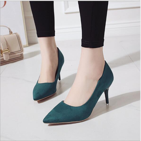 Free shipping new style sexy Lady point toe high heels shoes boots pumps suede women's shoes cheap wholesale discount with good quality hot