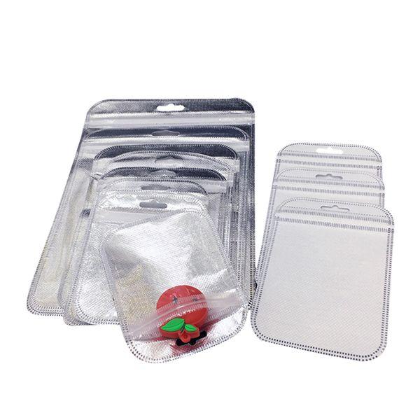300pcs gros sac cadeau en plastique en or 3 tailles en plastique sac d'emballage de fermeture à glissière pour couverture de téléphone pour iPhone 5s / 6s / 6 plus Samsung s4 / s5 / note3