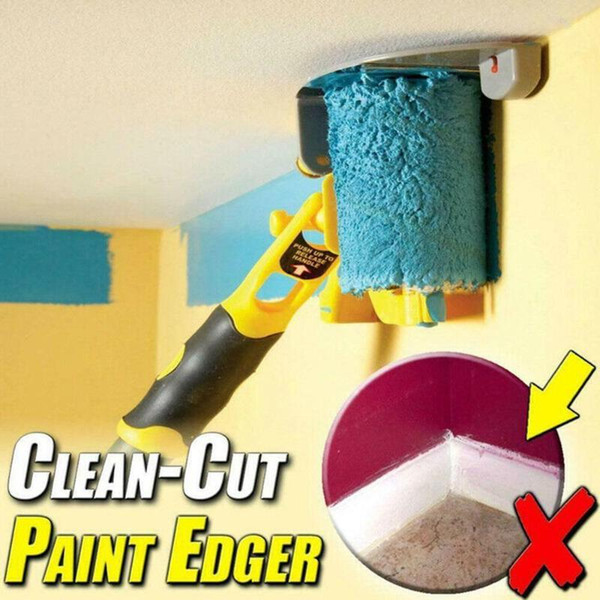 top popular Clean-Cut Paint Edger Roller Brush Safe Tool Portable for Home Room Wall Ceilings Paint Edger Roller 2021