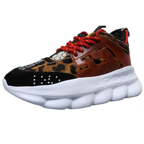 Réaction de chaîne de luxe baskets occasionnels Sport Mode Casual Chaussures formateur Semelle légère lien-en relief avec sac à poussière et boîte de chaussures