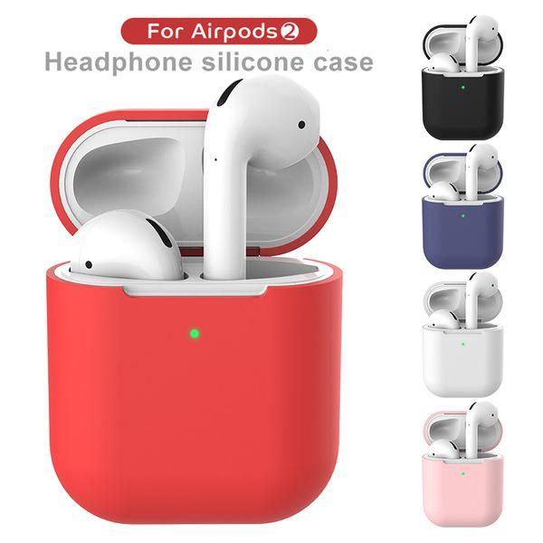 Airpod 2 Koruyucu Airpods Gerçek Bluetooth Kablosuz Kulaklık Için Silikon Kılıf Silikon Kılıf Darbeye Su Geçirmez mix renk