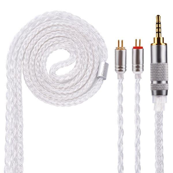 Yinyoo 16 Çekirdek Gümüş Kaplama Kablo 2.5 / 3.5 / 4.4mm CCAC12 V90 ZS10PRO ZSNPRO Blon Kablo ile MMCX / 2pin / QDC Yükseltme BL-03