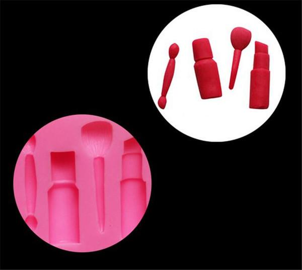 Herramientas de maquillaje pintalabios esmalte de uñas fiesta de chocolate DIY fondant herramientas de decoración de pasteles molde de silicona moldes de postre