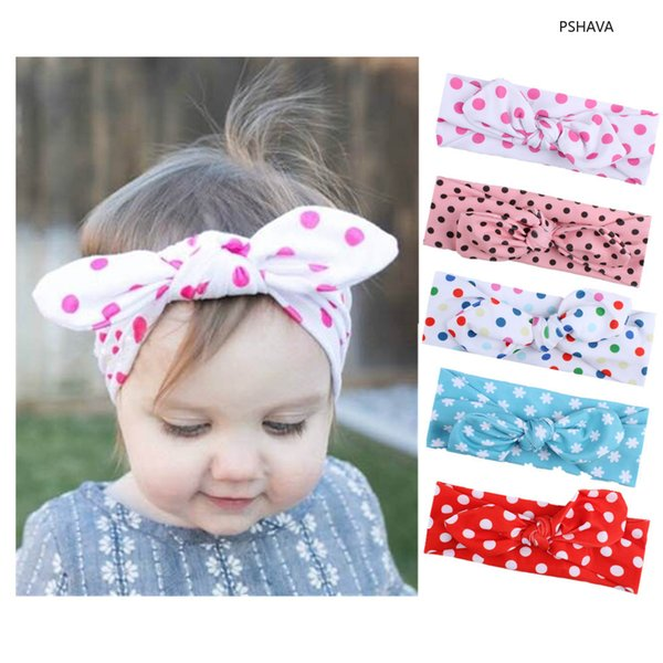Ins Baby Cute Lovely Tie Headband Children Butterfly Tie Rabbit Ear Hair Band Kids bow Head wear princess party accessory