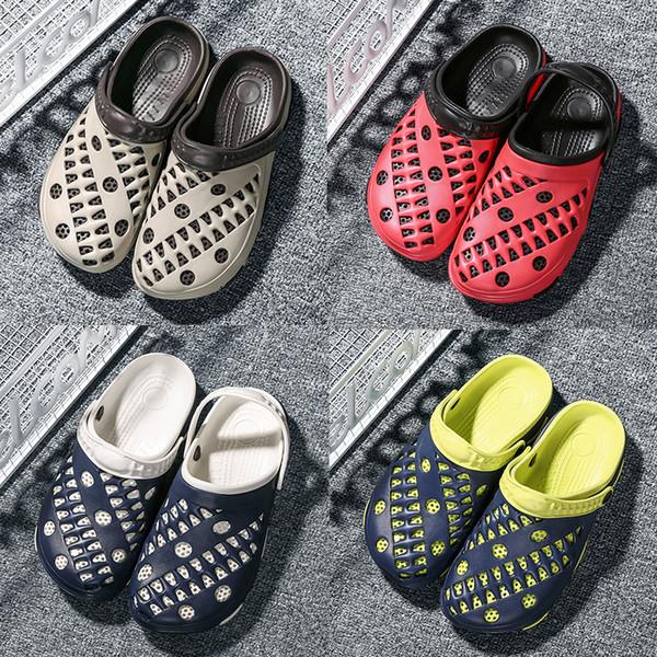 designer Sandals Men Summer Shoes Sandals New Breathable Beach Flip Flops Slip On Mens Slippers Mesh Lighted Hole Shoes top quality