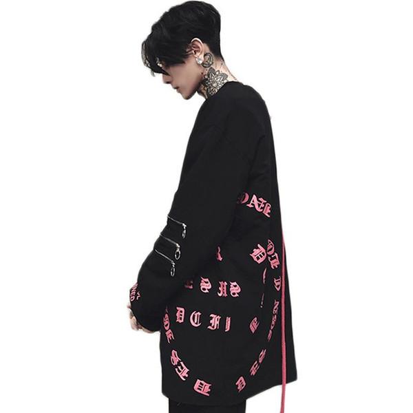 Hip Hop Tişörtü Moda Hoodies Kazak Hiphop Sweatshirt Erkek Hoodie Komik Boyut S -XL Yeni Sıcak