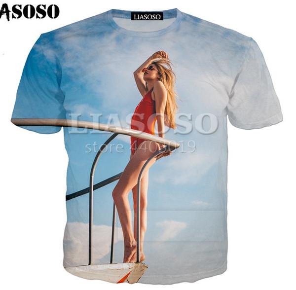 Fashion Men/Women 3D Print Pretty bikini girl Casual T-Shirt Short Sleeve U35