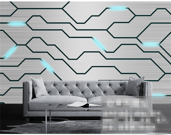 Custom Photo advanced personality wallpaper 3D stereo modern technology circuit board tooling background wall 3d wallpaper
