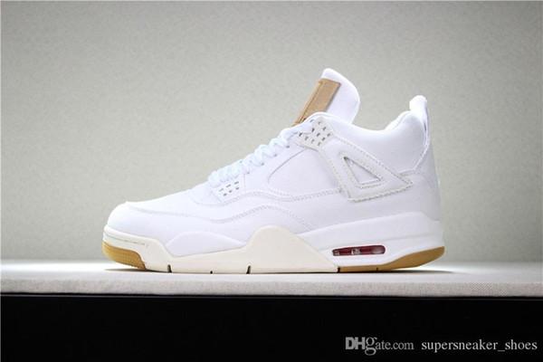 NIKE Air Jordan 4 Retro 4 4s chaussures de basket-ball mens top qualité tonnerre raptor militaire bleu formateur de tatouage mens sneakers designer chaussures de sport nous 7-13