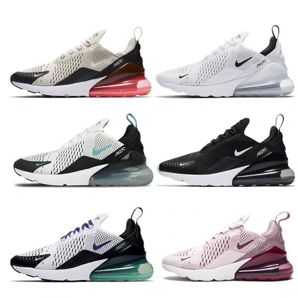 best selling 2019 Best Quality 270 Triple Black All White Men and Women Sport Shoes Air Running Shoes Off Maxes Trainers maxes Vaspos TN 97 Sneakers