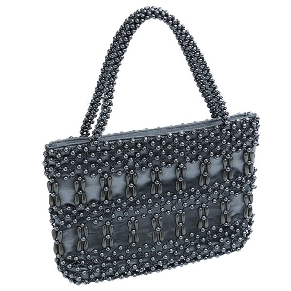 Women Beaded Bags Vintage Retro Design Small Tote Shoulder Bag Girls Handmade Beach Handbags Brand Design Small Purse Clutches
