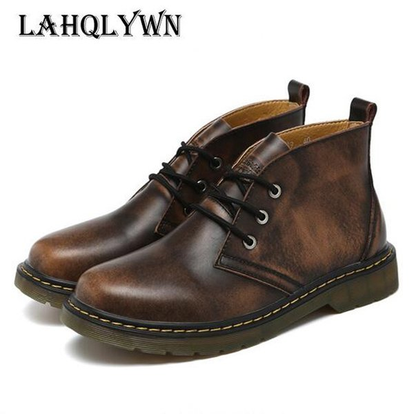 Handmade Men autumn winter Boots, High Quality men boots, lace up ankle boots for men H25 #8918