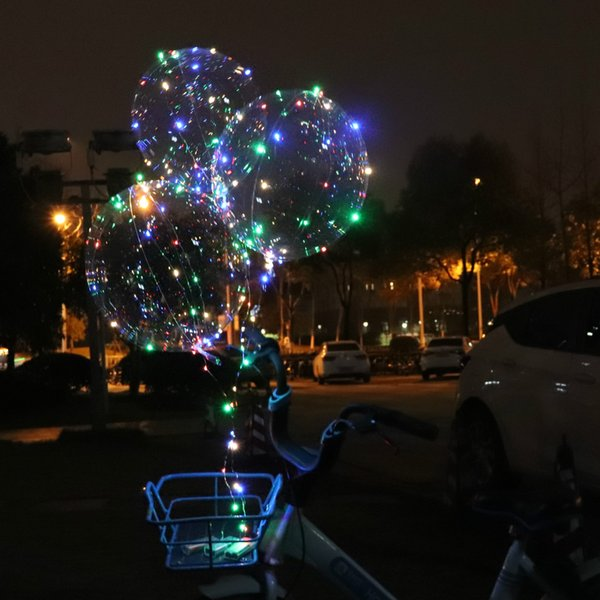 Christmas Fairy Lights Transparent.2019 Party Lfashion Transparent Bobo Ball Led Air Balloon Lights Luminous Christmas Decoration Party Celebration Fairy Lights From Zhong8889 1 39