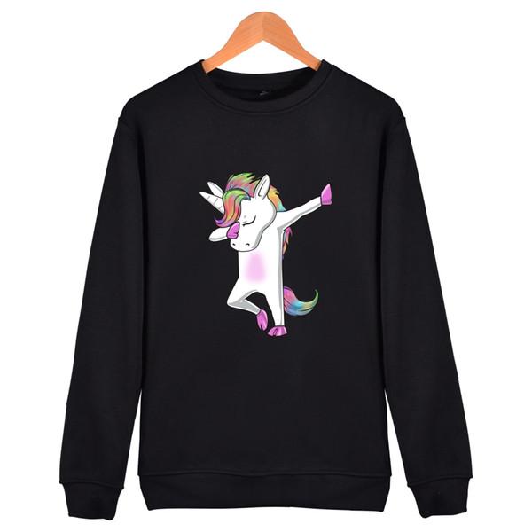 Hot Unicorn Print Hoodies Men Winter High Quality Dancing Unicorn Cotton Hip Hop Sweatshirt Men Streetwear Style Clothes