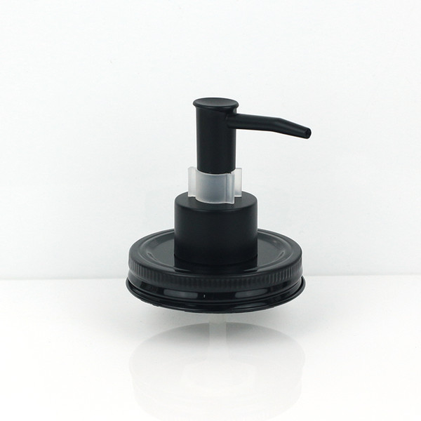 Black Plastic ABS With Clip Lock Soap Dispenser Lid For Mason Jars (not Include) liquid Pump For Kitchen And Bathroom Liquid Lotion Pump