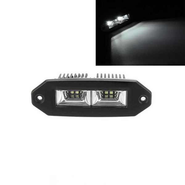 1pcs 40W IP67 6000K White Flush Mount LED Flood Work Light for Jeep Off-Road SUV ATV Pickup