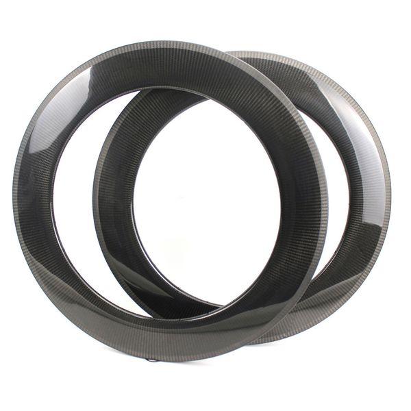 High Profile 88mm Depth Carbon Fiber Rims Clinche / Tubular/ Tubeless For Road Bike wheel And Triathlon carbon wheelset With 1k 3k 12k UD