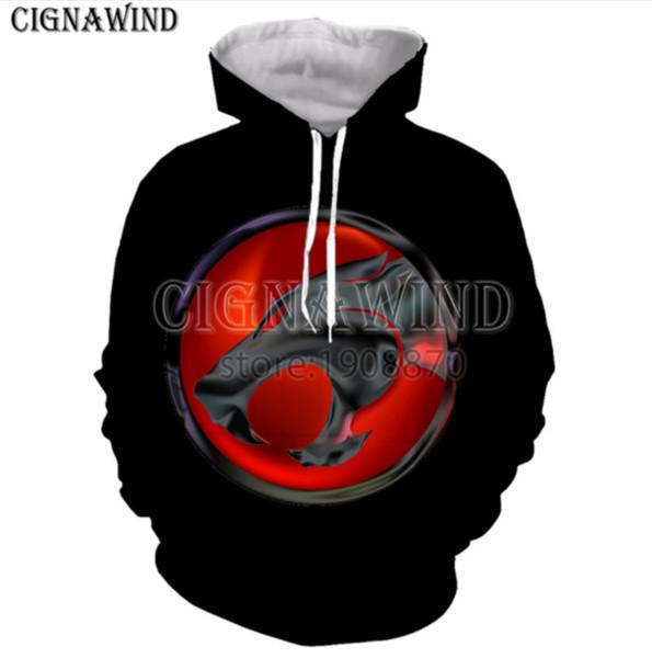 Nova moda homem / mulher camisola 3d impressão Thundercats lazer hoodies h70