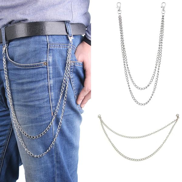 10 Styles Street Style Women Men Fashion Big Ring Key Chain Metal Wallet Belt Chain Long Punk Pant Jean Keychain HipHop Jewelry