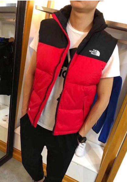 best selling Men's Winter Outdoor Heavy Coats north Down Vest outdoor Lightweight Jackets mens Water Repellent Puffer face Vests
