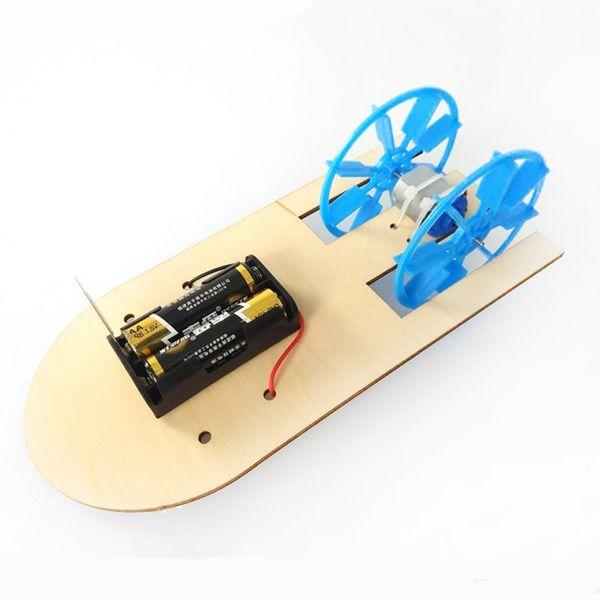 Лодочный электрический пароход Скоростной катер Первичная и вторичная технология Yizhi Небольшая продукция Модель парохода Научно-популярный эксперимент