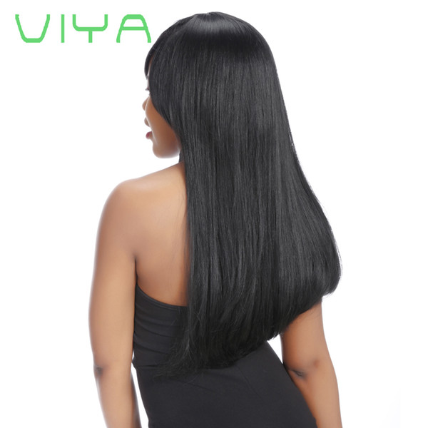 VIYA HAIR 8A Brazilian Straight Hair Weave Bundles Unprocessed Natural Color 8-30inch 1/3 Piece Remy 100% Human Hair Extension