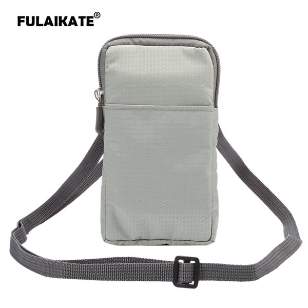 """FULAIKATE 5.5"""" Plaid Universal Shoulder Bag for iPhone6s 7 Plus handbag Case for Samsung Galaxy Note4 Holster for Huawei Honor8"""