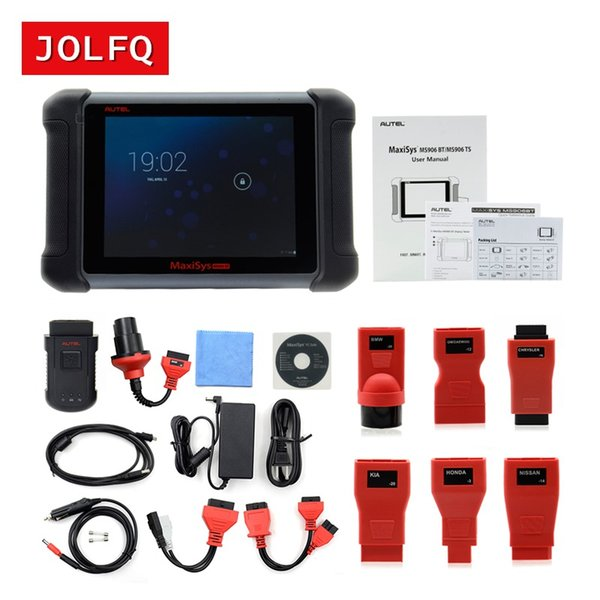 2018 New arrival Wireless Autel MaxiSys MS906BT MaxiSys MS906 BT Universal Car Auto Diagnostic Scanner Tool DHL Fast Shipping