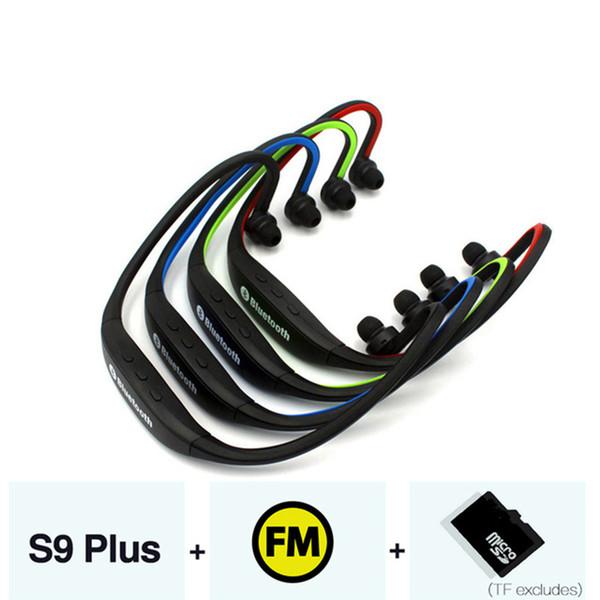 S9 Fone De Ouvido Sem Fio Esporte Fone de Ouvido Bluetooth Suporte TF / SD Card FM Verdadeiro Sem Fio Fones de Ouvido Handsfree Fone de Ouvido com Microfone para o Telefone