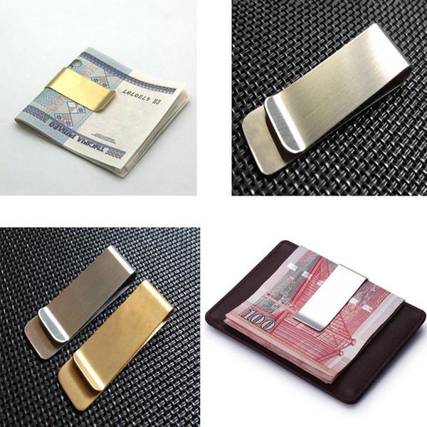 Neue Ankunft Edelstahl Mental Money Clips Dollar Cash Clamp Halter Brieftasche für Männer Frauen Zwei Farben