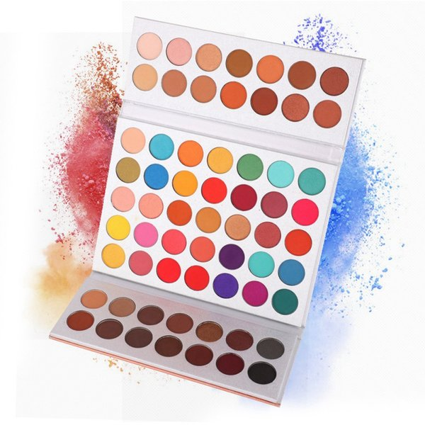 Dropshipping Beauty Glazed 63 colores Sombra de ojos en polvo Paleta de maquillaje Suave Smoky Nude Sombra de ojos Pigmento Fácil de usar Shimmer Matte Eyeshadow