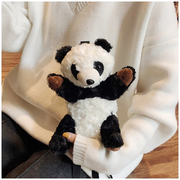 Panda bag ins the same paragraph wild panda cute cartoon plush messenger bag high quality fast free delivery