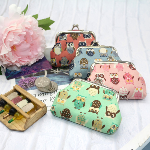 Ladies Mini Bag Women's Cute Owl Print Fashion Key Pocket Wallet Kids Wallet Mini Woman Coin Purse portamonedas mujer