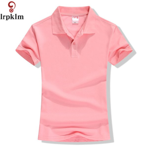 New 2018 Summer Brand Solid Polo Women Shirt Slim Short Sleeve Camisa Polo Shirt Polo Femme Women Casual Shirts Clothing Yy417 Q190426