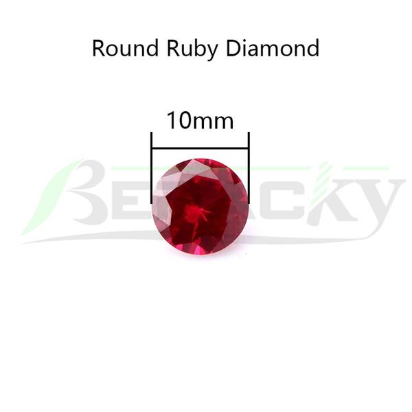 Runder Diamant-Rubin