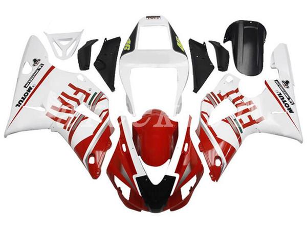 New ABS motorcycle bike Fairing Kits Fit For YAMAHA YZF-R1 98 99 YZF1000 1998 1999 R1 fairings bodywork set custom white red FIAT
