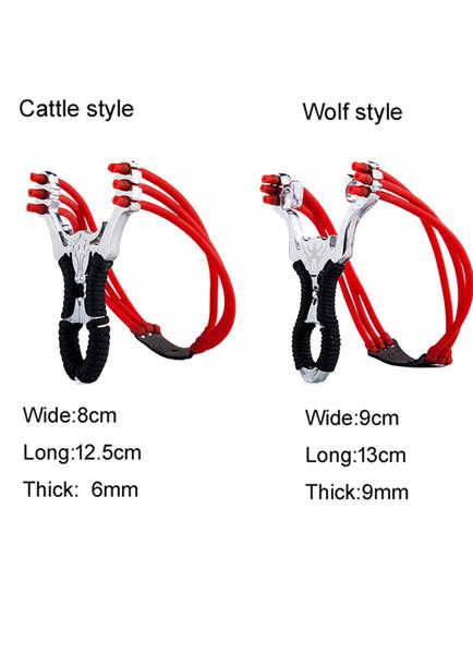 Nuevo y potente acero inoxidable Slingshot Crossbow Hunting Sling Shot Catapult Bow Kits de viaje al aire libre slingshots para Caza al aire libre