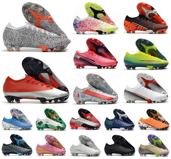 best selling 2020 Men Mercurial Vapors XIII Elite FG 13 Pink CR7 SAFARI Ronaldo Bondy Neymar NJR 360 Soccer Football Boots Shoes Size 35-45