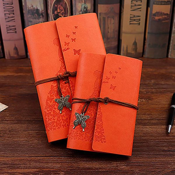 Butterfly Lanyard Notebook Diary Book Traveler Notepad Book Journal Diary PU Leather Cover Blank Notebook