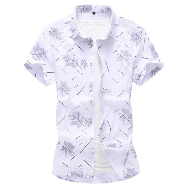 2019 herren baumwolle leinen casual dress shirts männlich hohe qualität strand hawaiian shirt männer kurzarm slim fit shirt 5xl 6xl 7xl