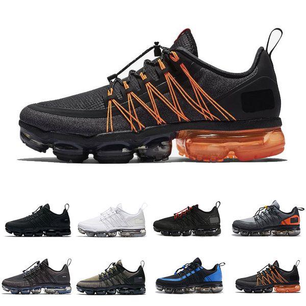2019 Utility Black Orange Cushion Running Shoes para hombre Entrenadores Triple Blanco Azul Amarillo Deportes Zapatos de diseñador al aire libre Tamaño 40-45